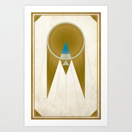 Art Deco Golden Snitch Art Print