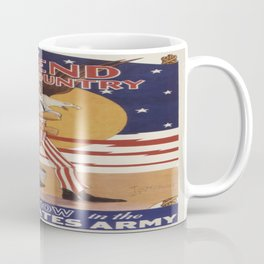 Vintage poster - Defend Your Country Coffee Mug