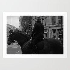 A Horse in Trafalgar Art Print
