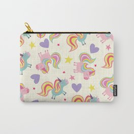Rainbow Unicorn Pattern Carry-All Pouch