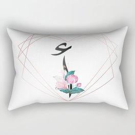 monogram arabic letter alif a Rectangular Pillow