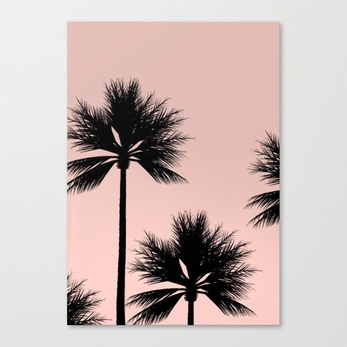Midnight Palm Canvas Print