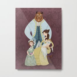 A Beastly Family Portrait Metal Print