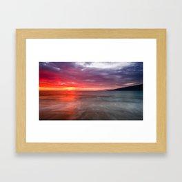 Kihei Sunset 2 Framed Art Print