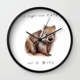 I might look cute, but I bite Wall Clock