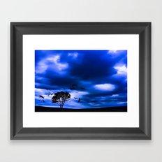 Blue Fantasy Framed Art Print