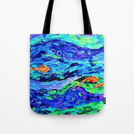 Follow the fish - abstract painting Tote Bag