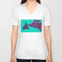 prism V-neck T-shirts featuring Prism by Kate Shea