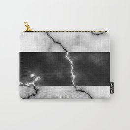 Black and white marble texture 10 Carry-All Pouch