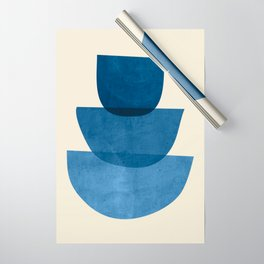 Abstract Shapes 37-Blue Wrapping Paper