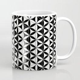 Flower of Life Black White 4 Coffee Mug