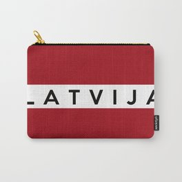 latvia country flag Latvija name text Carry-All Pouch