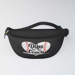 Dibs On The Coach Baseball Player Sport Lover Fanny Pack