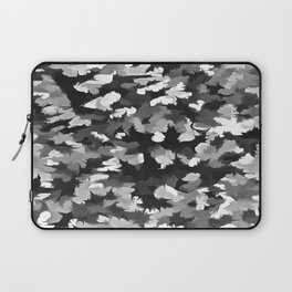 Foliage Abstract Pop Art In Monotone Black and White Laptop Sleeve