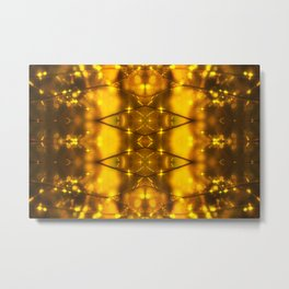 Sparkling Drops-yellow pattern Metal Print