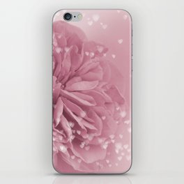 Light Pink Rose with hearts #1 #floral #art #society6 iPhone Skin