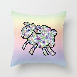Mosaic Lamb Throw Pillow