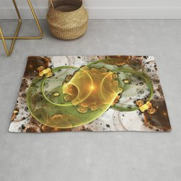 Coffee or Tea - Abstract Fractal Artwork Rug