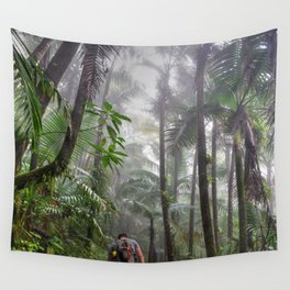 The Cloud forest - before Maria - El Yunque rainforest PR Wall Tapestry