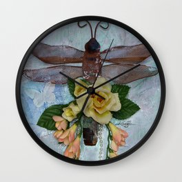 Dragonfly Love by Kathy Morton Stanion Wall Clock