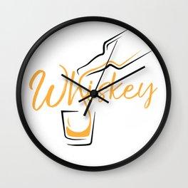Whiskey Shot Wall Clock