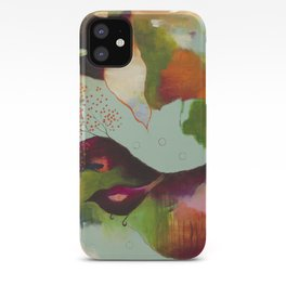 """""""Clouds Gave My Soul An Idea"""" Original Painting by Flora Bowley iPhone Case"""