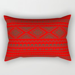 Tribal #9 * Ethno Ethnic Aztec Navajo Pattern Boho Chic Rectangular Pillow