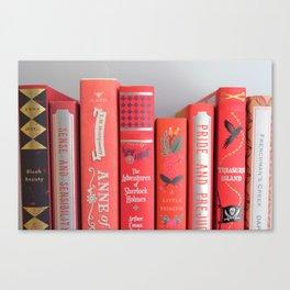 Shelfie in red Canvas Print