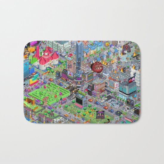 Videogame City V2.0 Bath Mat