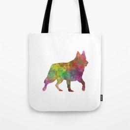 White Swiss Shepherd Dog in watercolor Tote Bag