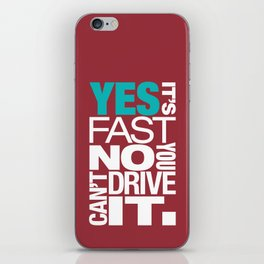 Yes it's fast No you can't drive it v2 HQvector iPhone Skin