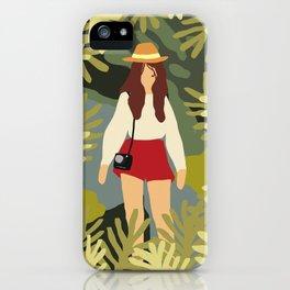 Girl Adventure Inspirational Art iPhone Case