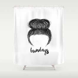 bundays Shower Curtain