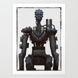 Cyber skull Robot  Art Print