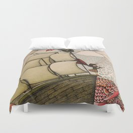 your chances are 50/50 Duvet Cover