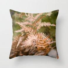 Dry fern Throw Pillow