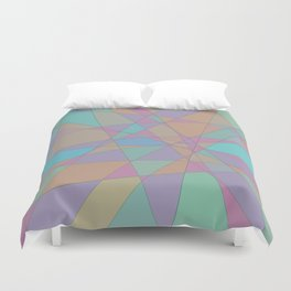 Shattered Turquoise & Pink Duvet Cover