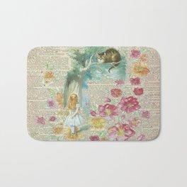 Vintage Floral Alice In Wonderland Bath Mat
