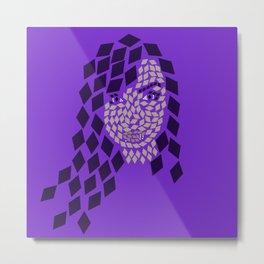 Karina Diamond Mosaic Metal Print