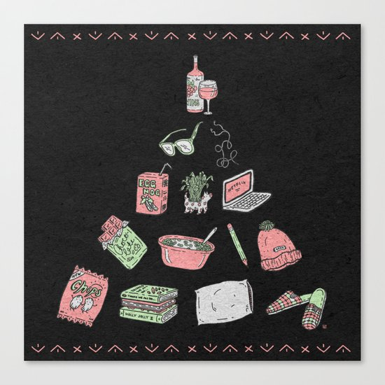 (Staying) Home for the Holidays Canvas Print
