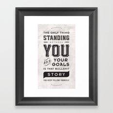 Bullshit Story Framed Art Print