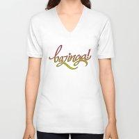 bazinga V-neck T-shirts featuring Bazinga! by Spooky Dooky
