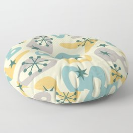 Retro Mid Century Modern Spaced Out Composition 329 Floor Pillow