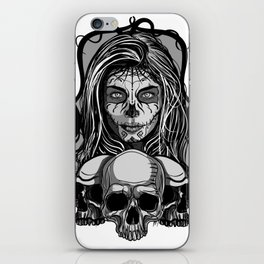 Mexican skull 2 iPhone Skin