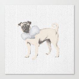 Pug in a Ruff Canvas Print