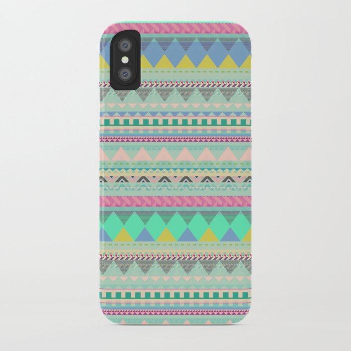 PASTEL AZTEC iPhone Case