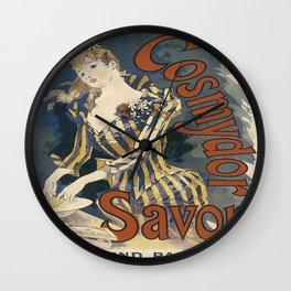 Vintage poster - Cosmydor Savon Wall Clock