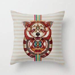 Red Panda by Giulio Rossi Throw Pillow
