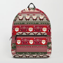 Santa Claus Ugly Sweater Backpack