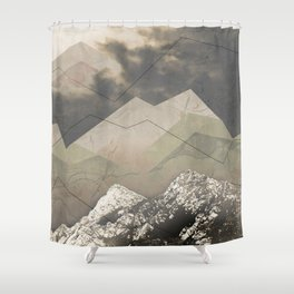 Geometric Sunrise Shower Curtain